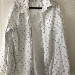 Old Navy Nautical Button Down Shirt